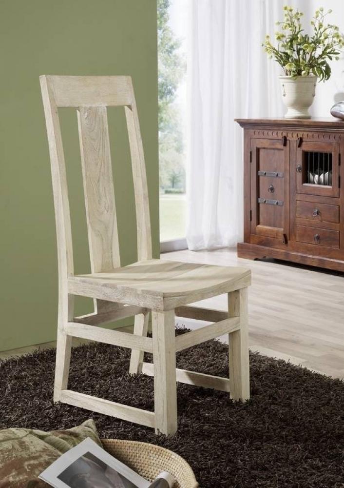 NATURE WHITE stolička #122 lakovaný agátový nábytok