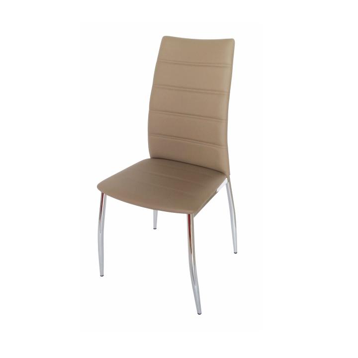 TEMPO KONDELA DELA jedálenská stolička - hnedá / chróm