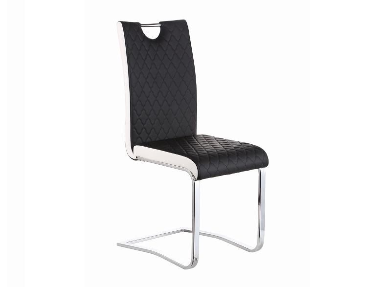 Jedálenská stolička Imane (čierna + biela + chróm)