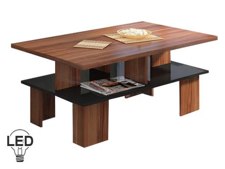 Konferenčný stolík Supra 2 (slivka + lesk čierny)