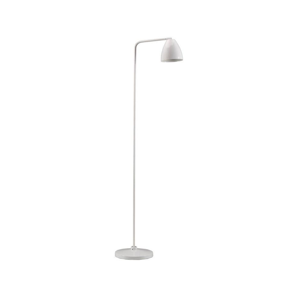 Biela stojacia lampa Design Twist Cervasca
