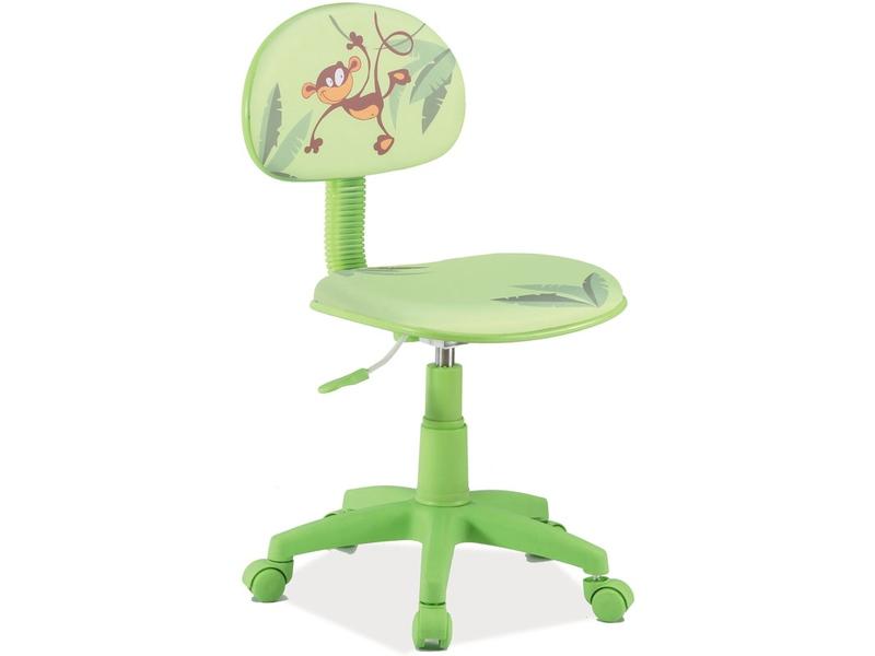 Detská stolička Hop (zelená + vzor)