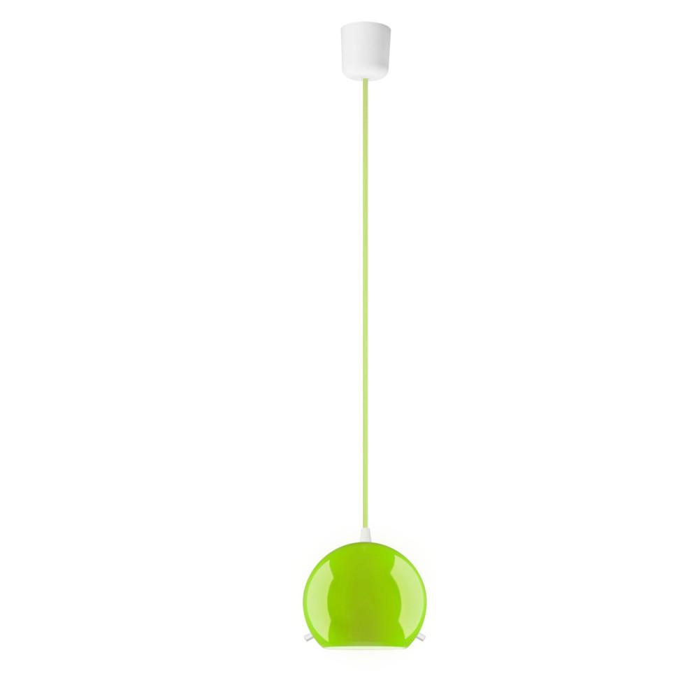 Svetlo MYOO Elementary, lesklá zelená/svetlozelená/biela