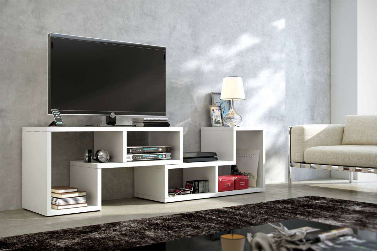 TV stolík Top biela