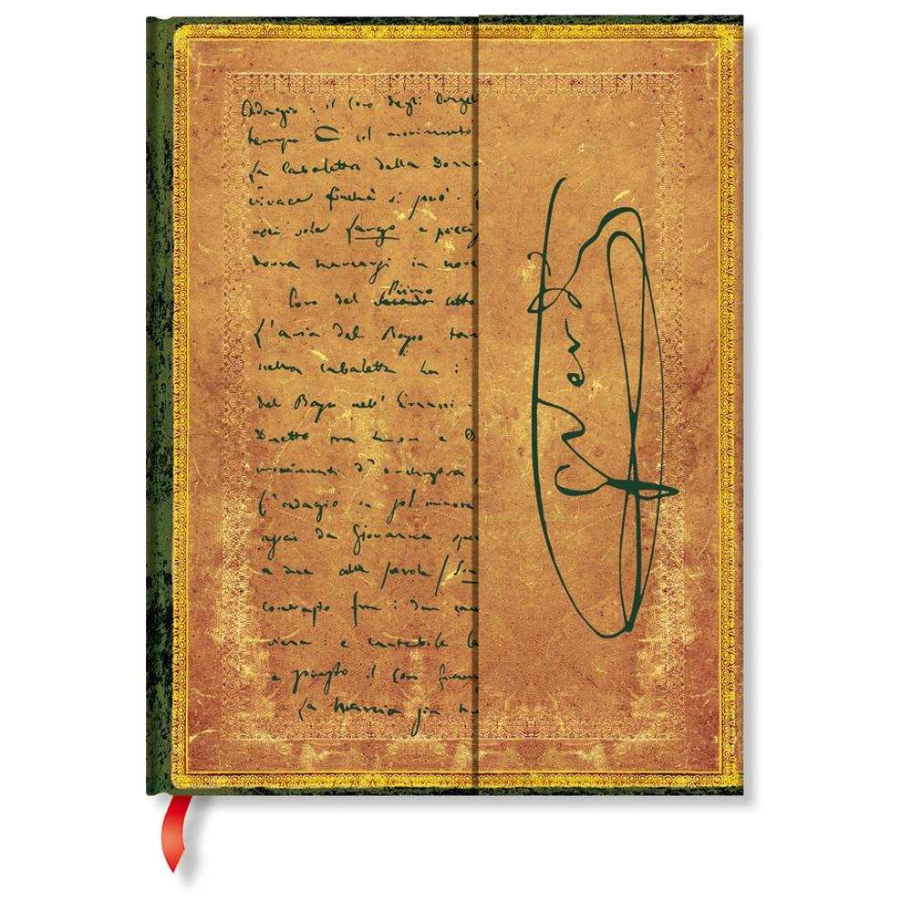 Linkovaný zápisník s tvrdou väzbou Paperblanks Verdi, 18 x 23 cm