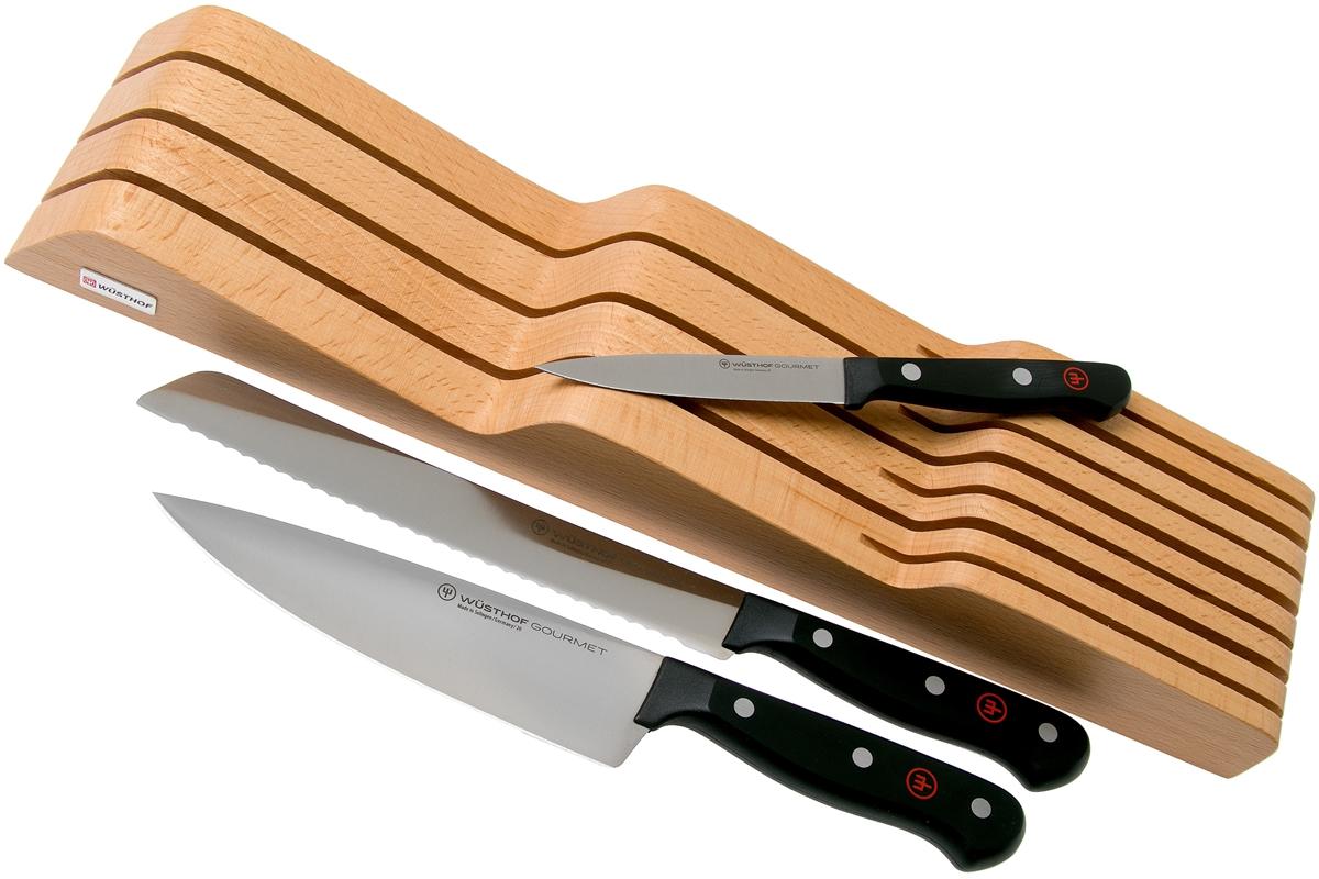 Sada nožov Gourmet s organizérom do zásuvky WÜSTHOF 3ks