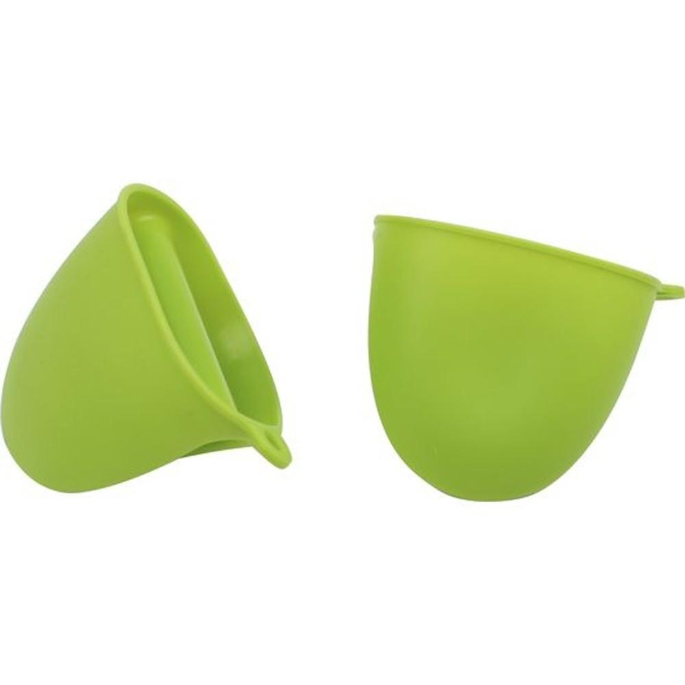 Zelená silikónová chňapka Bergner