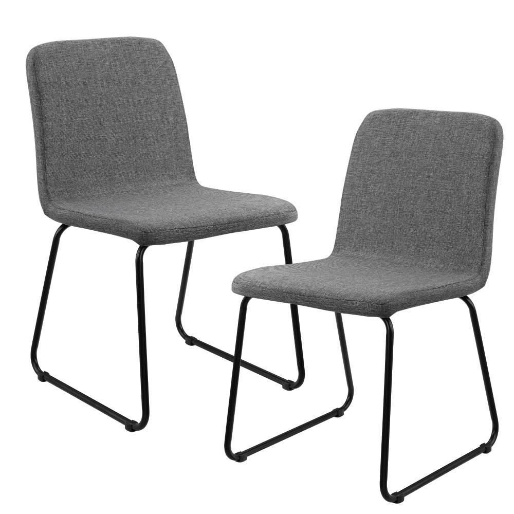 [en.casa]® Sada dizajnových stoličiek - 2 kusy - 81 x 44 cm - sivé