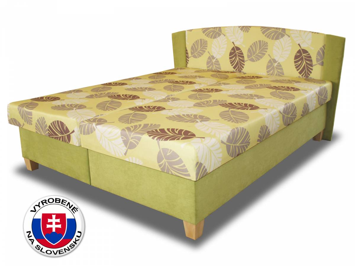 Manželská posteľ 180 cm Benab Elize (s roštami a matracmi)