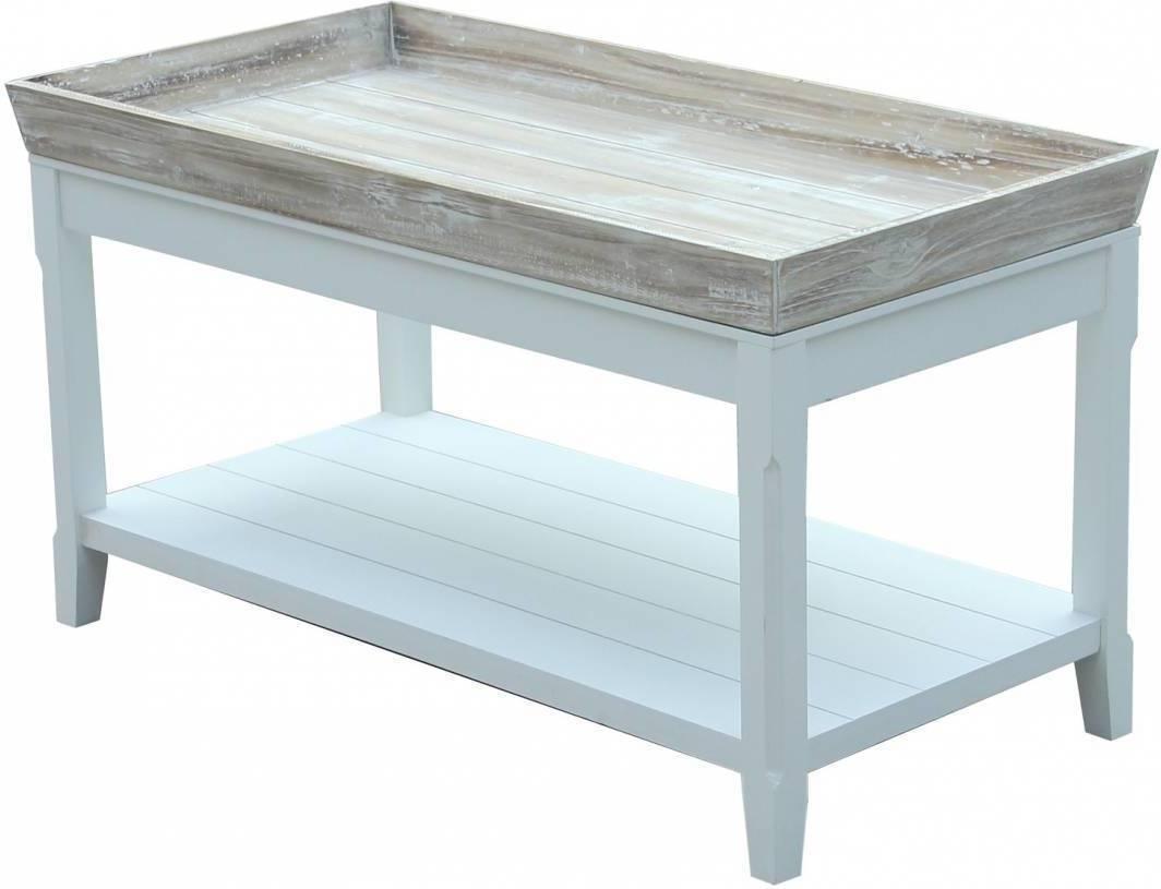 Veľký konferenčný stolík WILD 100 cm - biela
