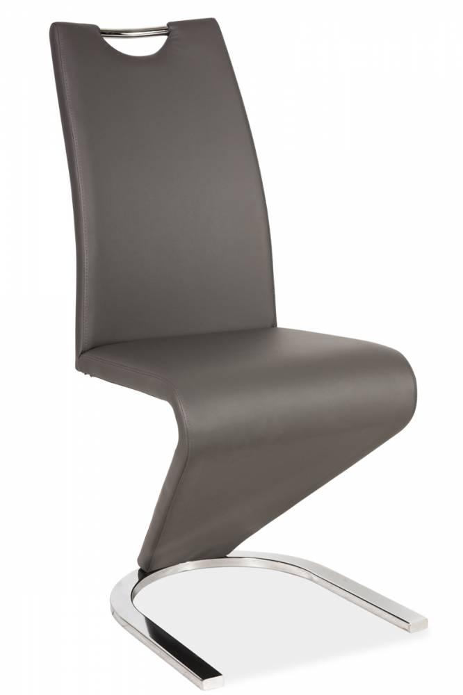 Jedálenská stolička HK-090, šedá/chróm