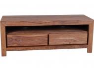 Furniture nábytok  Masívny Tv stolík s 2 zásuvkami  z Palisanderu  Subháš  120x45x45 cm