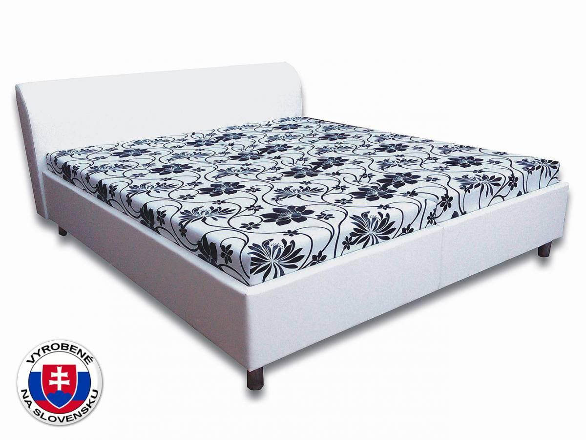 Manželská posteľ 160 cm Rita 3 (s pružinovými matracmi)