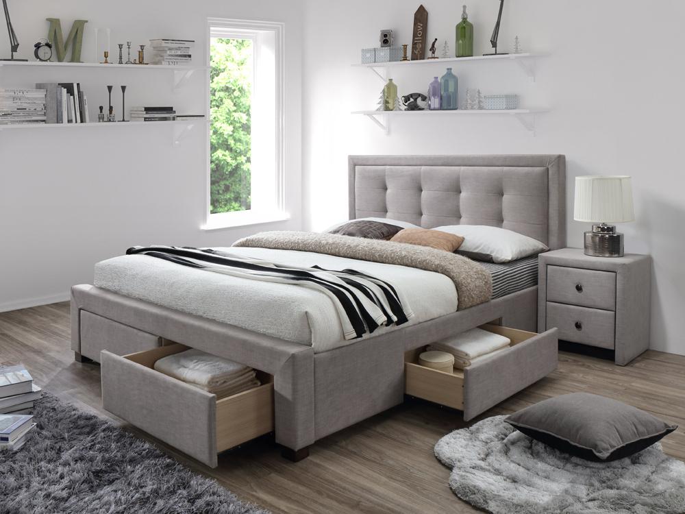 Manželská posteľ 160 cm Evora (s roštom)