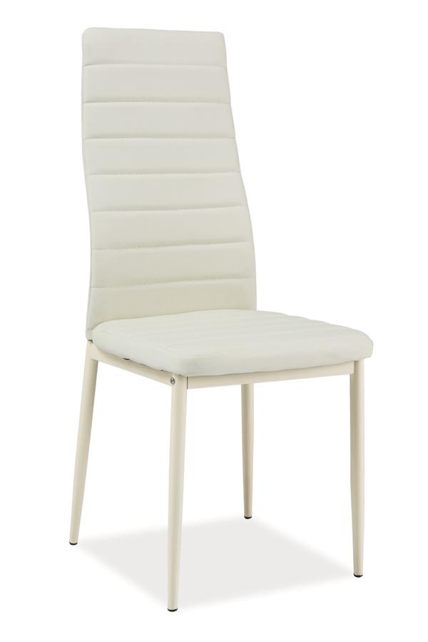 Jedálenská stolička VERME, krémová/krémová
