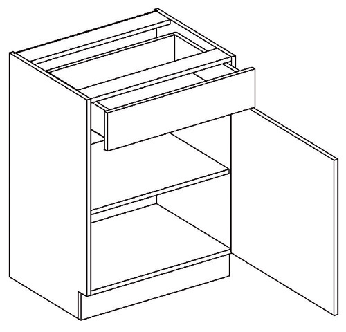 D60/S1 dolná skrinka so zásuvkou MOREEN Cocobolo