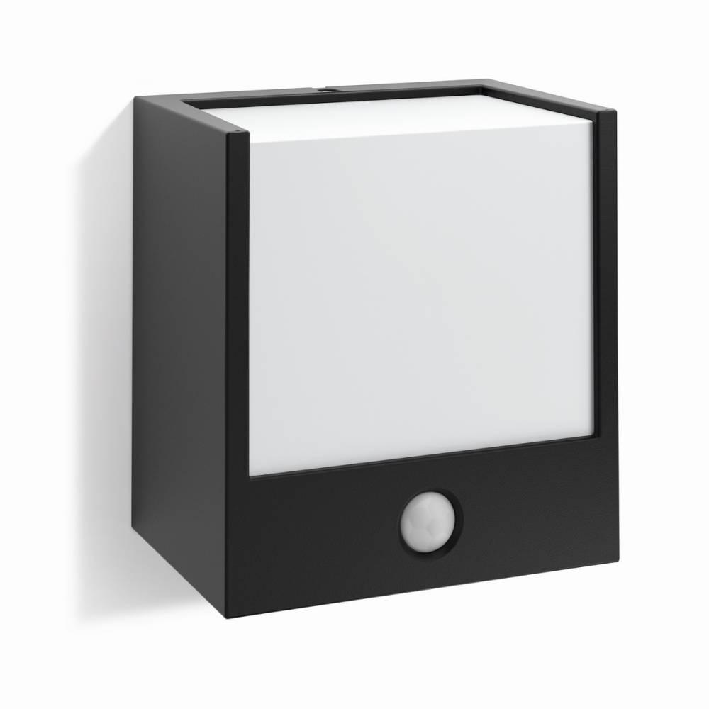 Philips 17317/30/16 Macaw Vonkajšie nástenné LED svietidlo s čidlom 13 cm, čierna