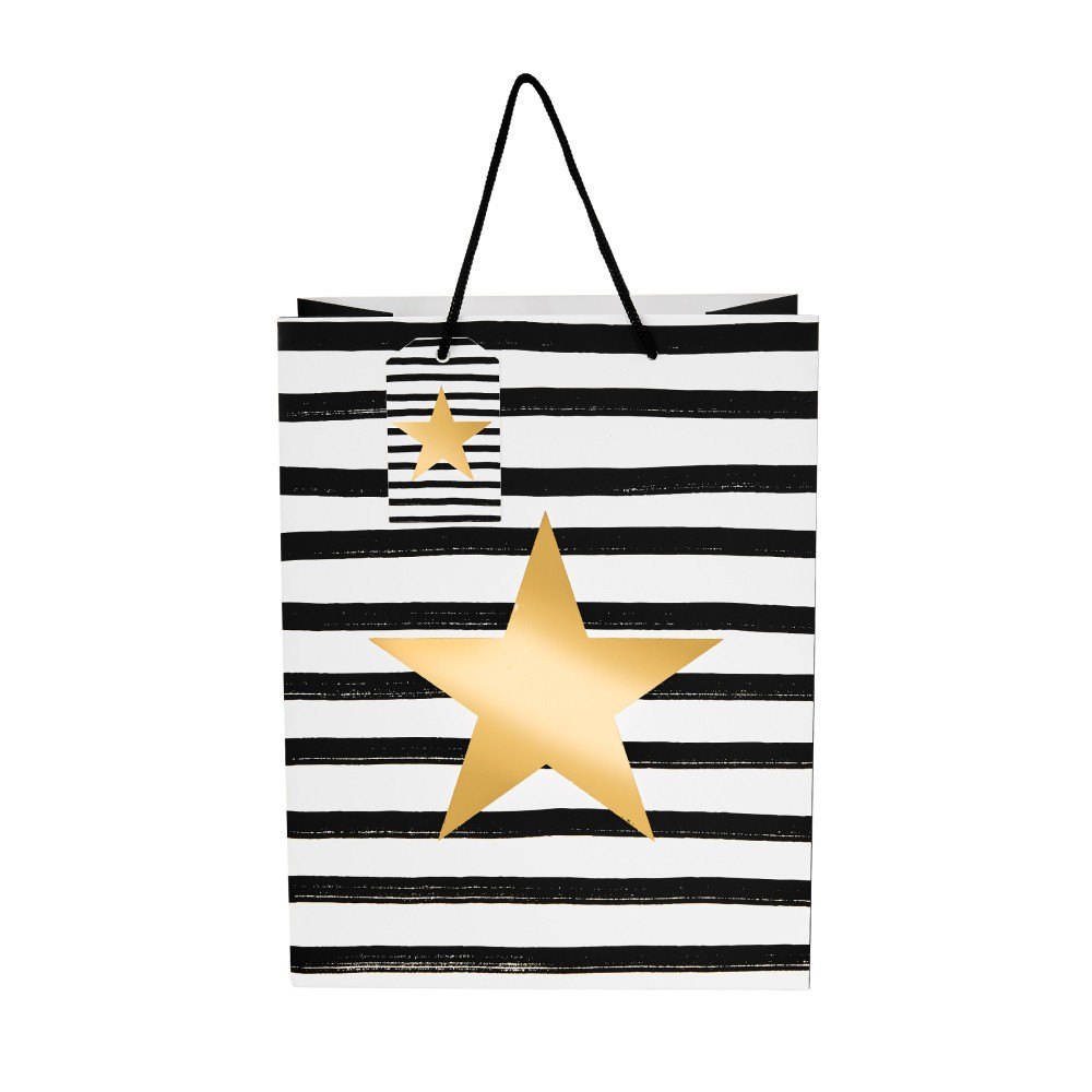 Darčeková taška Butlers hviezda, výška 13,5 cm