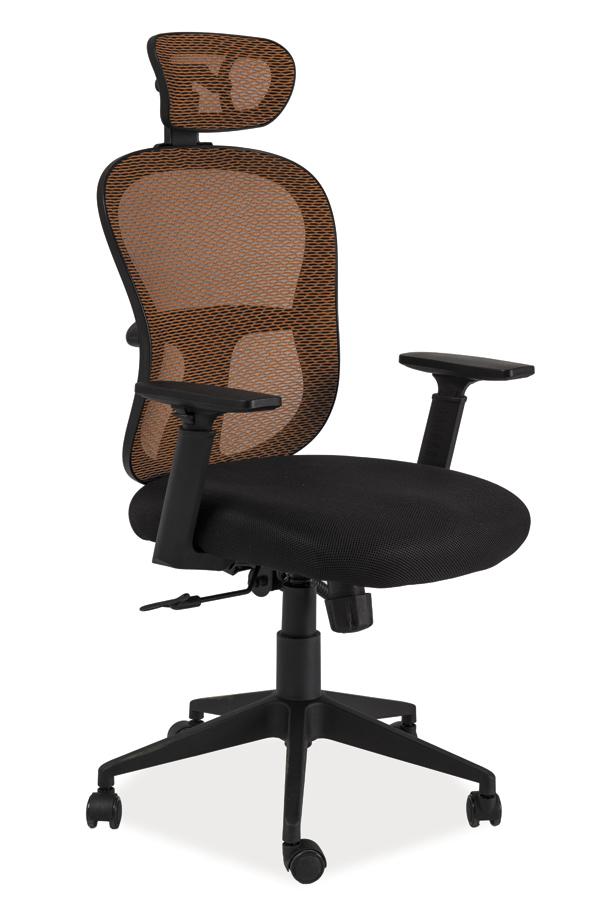 Kancelárske kreslo Q-116   Farba: oranžová / čierna
