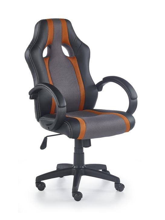 Kancelárske kreslo Radix (sivá + oranžová)