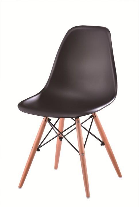 Stolička, čierna + buk, PC-015, Cinkla 2 NEW