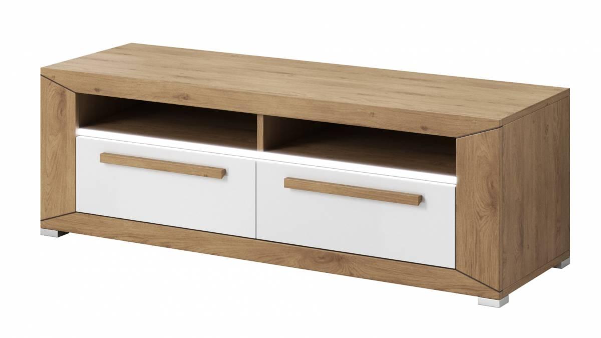 TV stolík/skrinka Typ 41 (dub Beaufort + biely lesk)