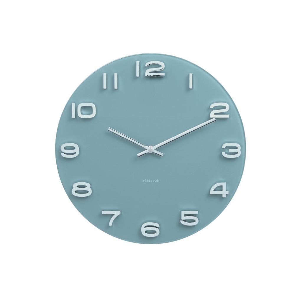 Modré hodiny Present Time Vintage