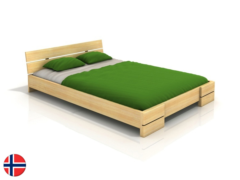 Manželská posteľ 200 cm Naturlig Lorenskog (borovica) (s roštom)