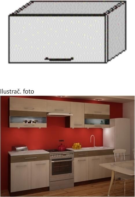 Kuchynská skrinka, rigoleto light/dark, JURA NEW IA OG-60