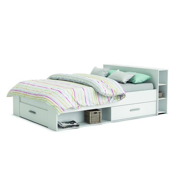 TEMPO KONDELA ROKET 140 manželská posteľ - biela