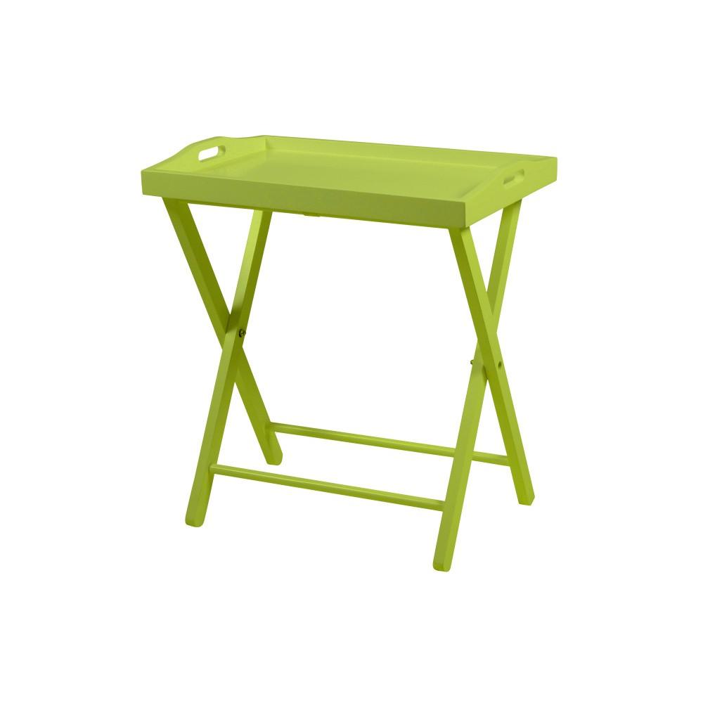 Zelený odkladací stolík Actona Vassaio