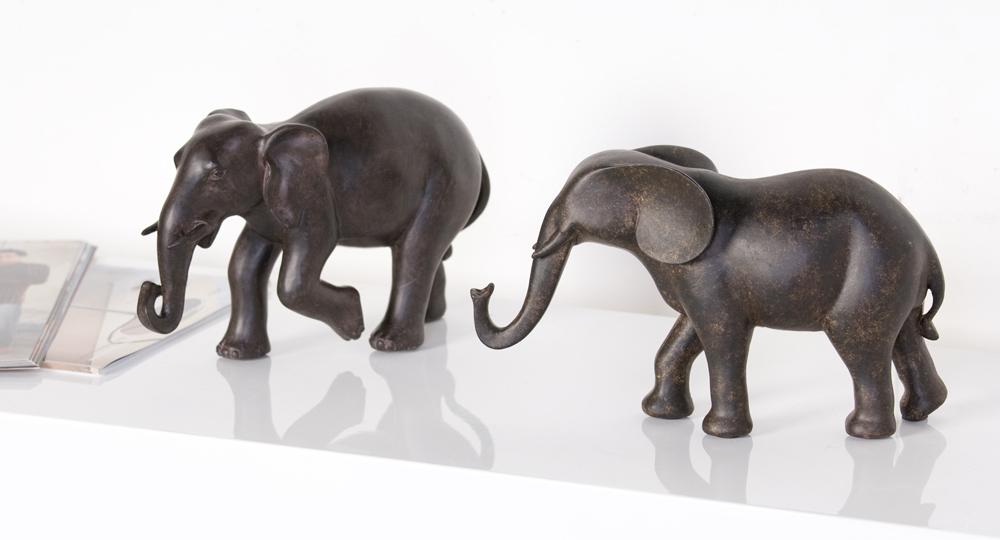Dekoratívna soška ELEPHANT - hnedá