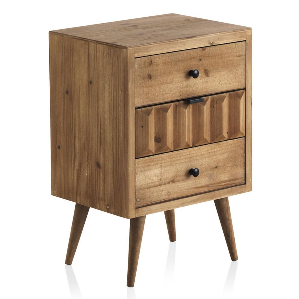 Nočný stolík s 3 zásuvkami Geese Cape Town