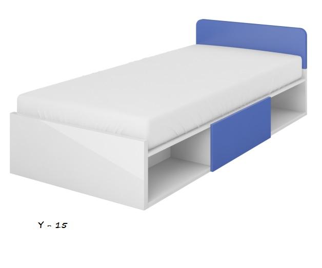Detská posteľ Yeti Y-16   Farba: Biela / biela lesk / grafit
