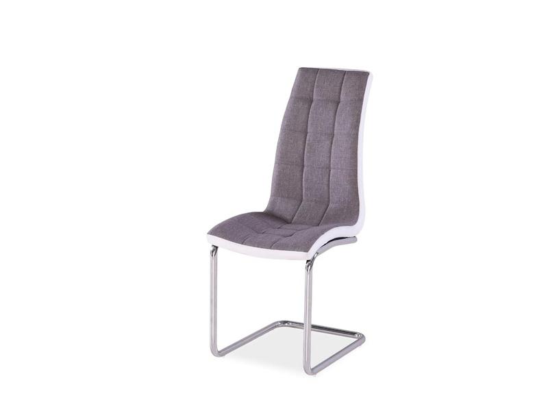Jedálenská stolička HK-103, šedá látka/biela
