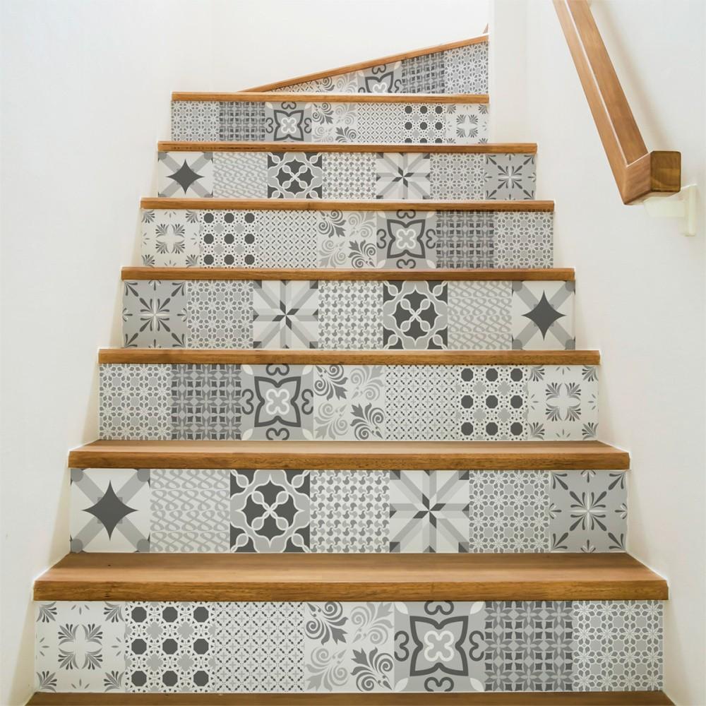 Sada 2 samolepiek na schody Ambiance Romantic, 15×105 cm