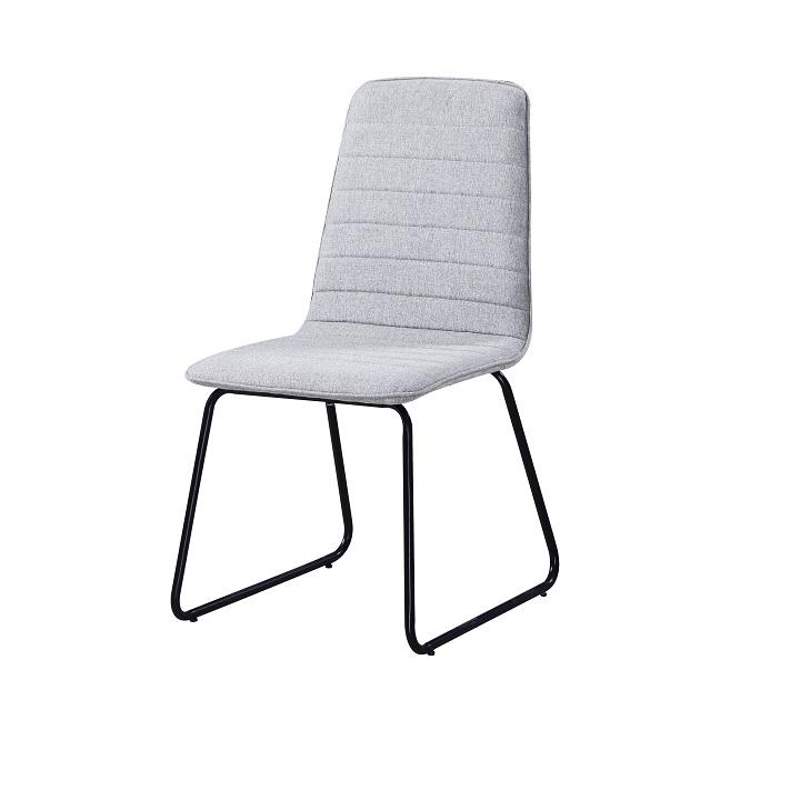 Jedálenská stolička Danuta (svetlosivá + čierna)