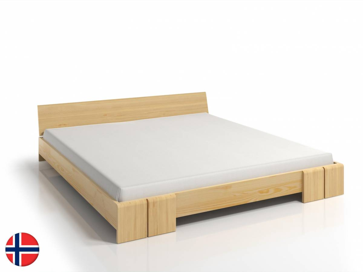 Manželská posteľ 180 cm Naturlig Galember Long (borovica) (s roštom)
