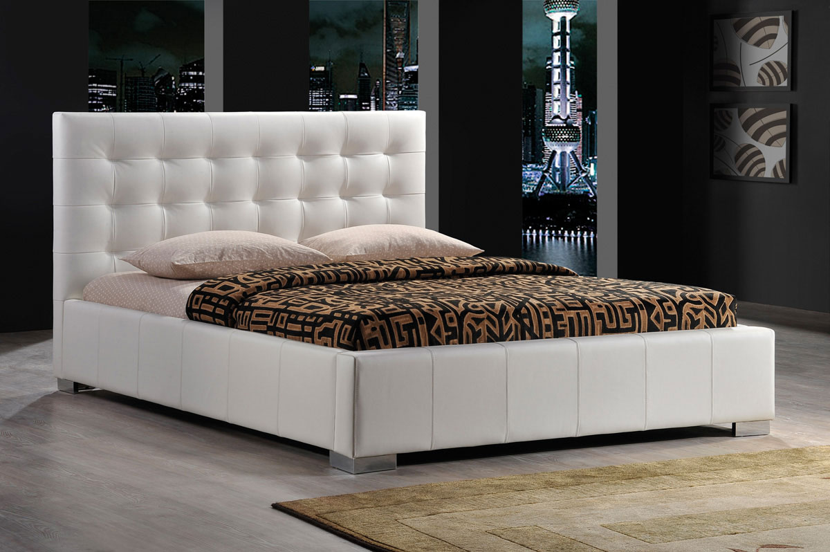 Čalúnená posteľ KALAMA, biela