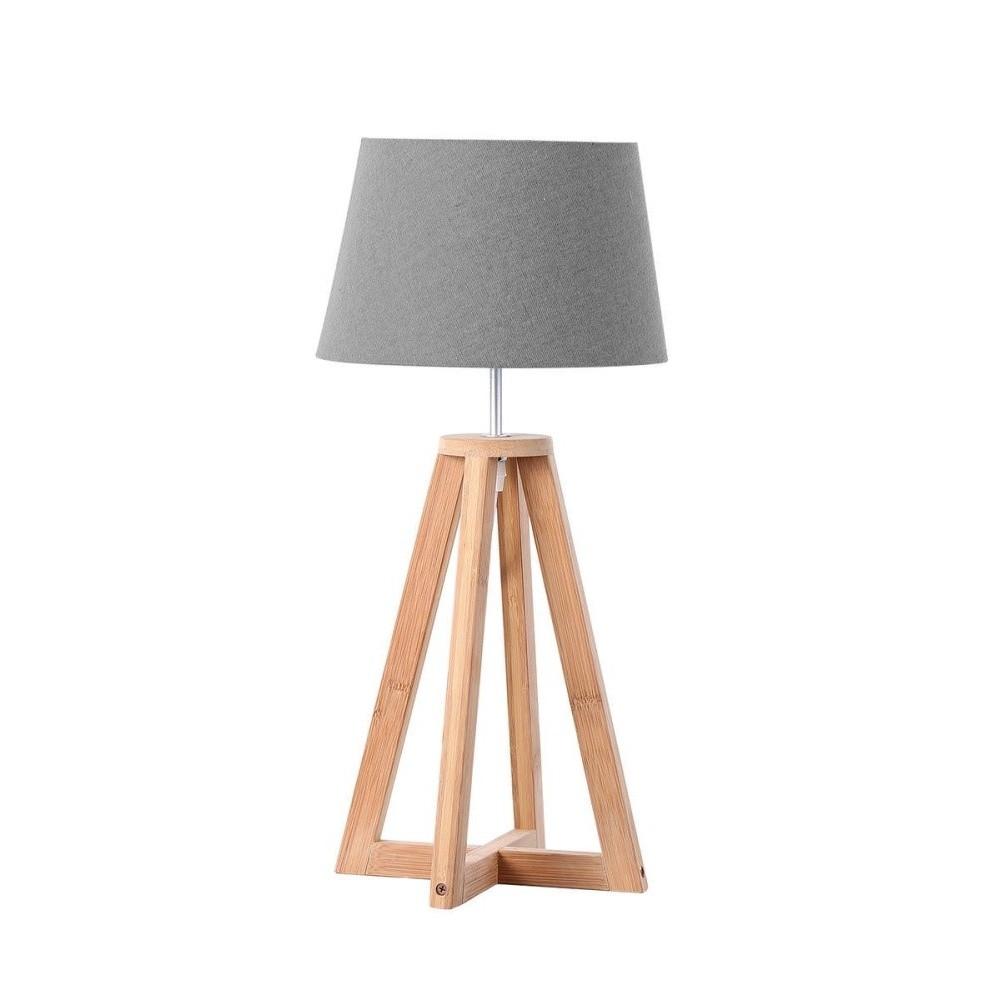 Stolová lampa s drevenou konštrukciou Vivorum Astro