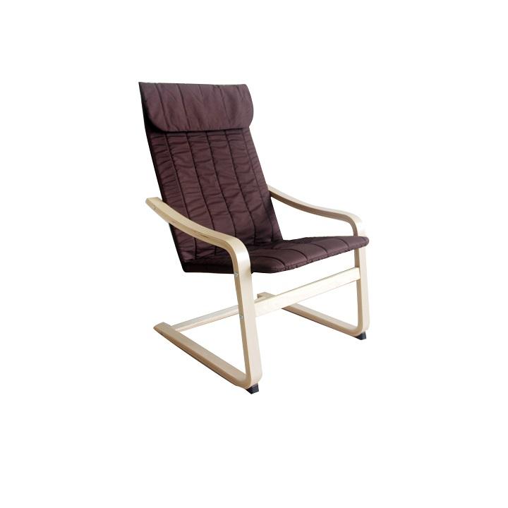 Relaxačné kreslo, brezové drevo-hnedá látka, TORSTEN |KUMAXnabytok.sk