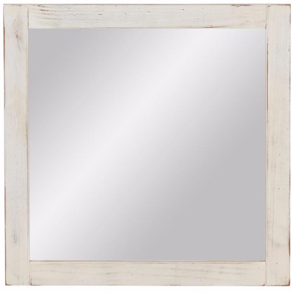 Biele nástenné zrkadlo z masívneho borovicového dreva Støraa Santana
