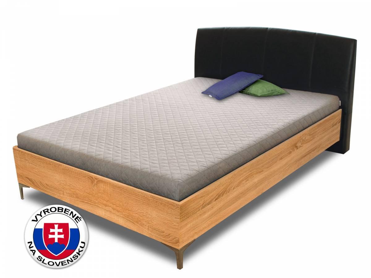 Manželská posteľ 140 cm Benab Elsona wood (s roštami a matracmi)