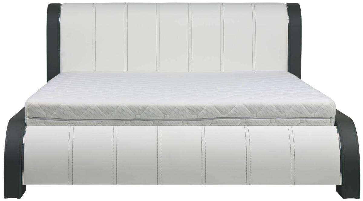 BOG-FRAN NAOMI 160 posteľ s roštom - biela / grafit
