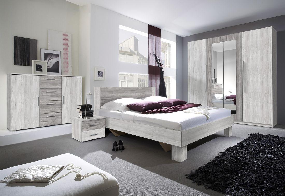 ERA - Ložnicová zostava - skriňa (20), posteľ 160 + 2x nočný stolík(51), komoda (26), borovice artic svetlá/borovice artic tmavá