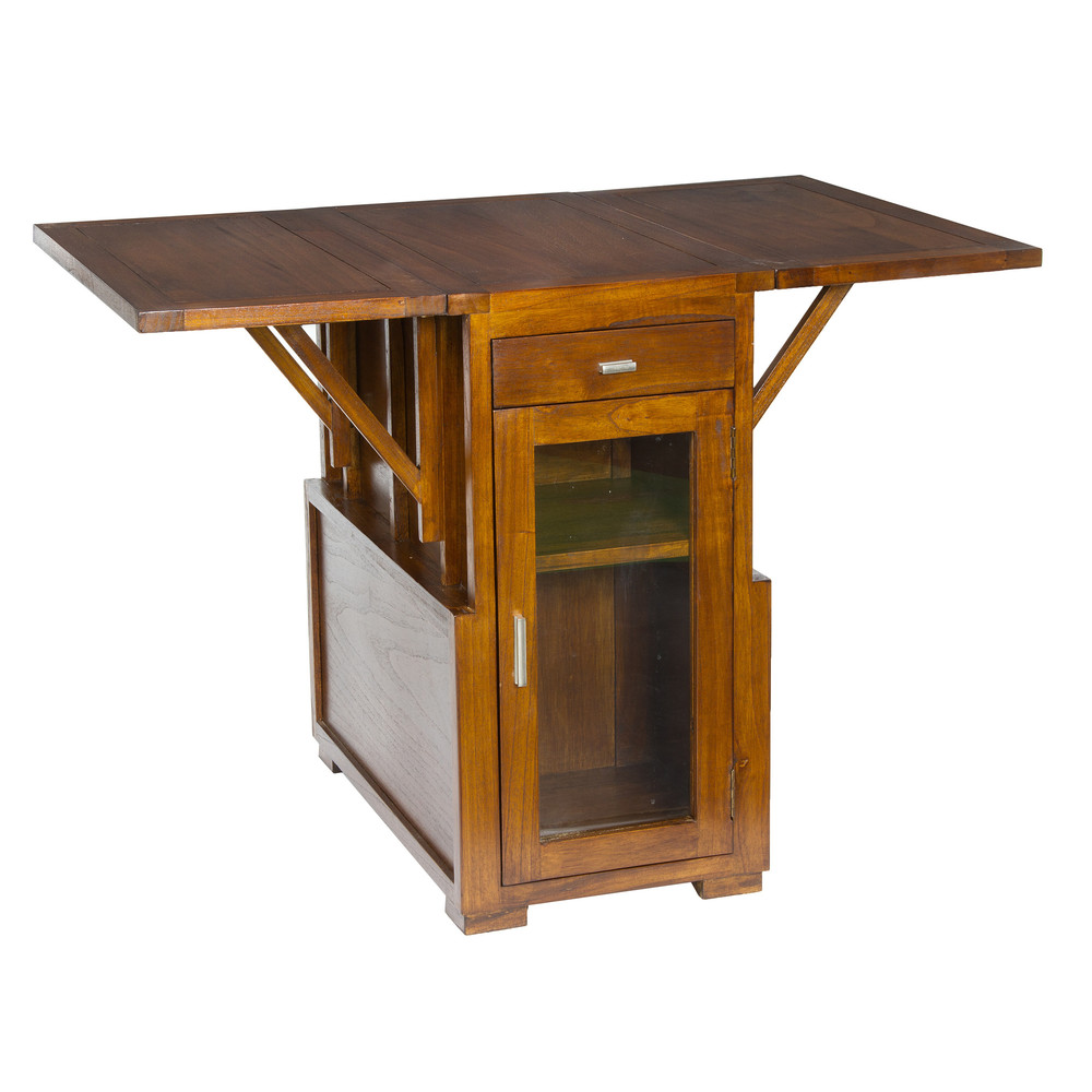 Drevený rozkladací príručný stolík Santiago Pons Acacia