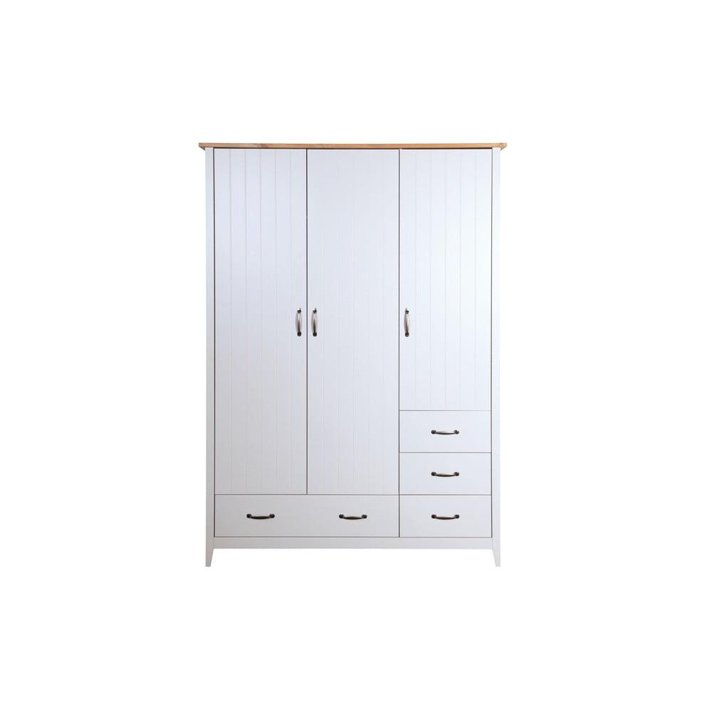 Biela šatníková skriňa Steens Norfolk, 192 × 142 cm