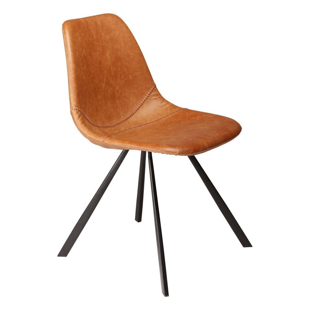 Hnedá jedálenská stolička DAN–FORM Pitch