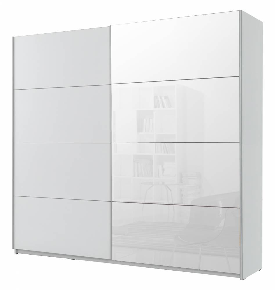Šatníková skriňa Typ 58 (biela + zrkadlo)