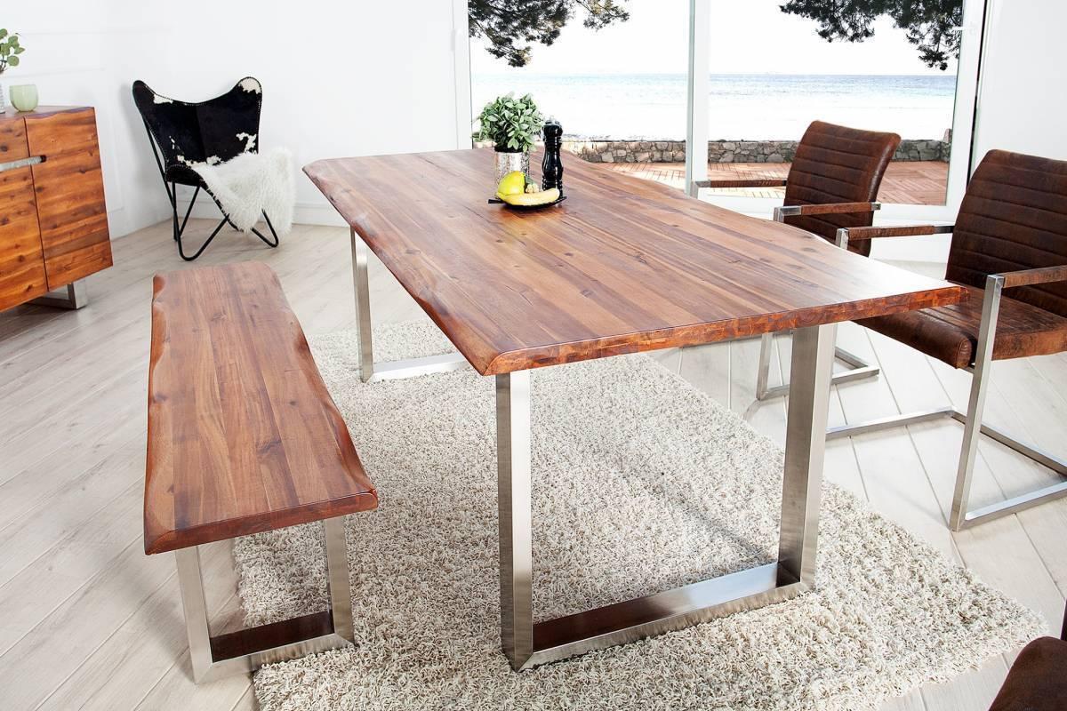Jedálenský stôl GENESUS 200 cm - hnedá